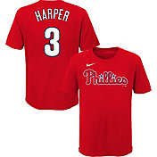Nike Youth Philadelphia Phillies Bryce Harper #3 Red T-Shirt