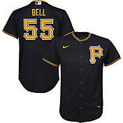 Nike Youth Replica Pittsburgh Pirates Josh Bell #55 Cool Base Black Jersey