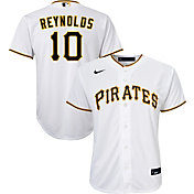 Nike Youth Replica Pittsburgh Pirates Bryan Reynolds #10 Cool Base White Jersey