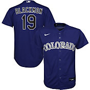 Nike Youth Replica Colorado Rockies Charlie Blockmon #19 Cool Base Purple Jersey