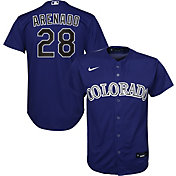 Nike Youth Replica Colorado Rockies Nolan Arenado #28 Cool Base Purple Jersey