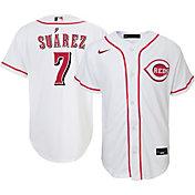 Nike Youth Replica Cincinnati Reds Eugenio Suarez Home Jersey