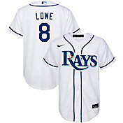 Nike Youth Replica Tampa Bay Rays Brandon Lowe #8 Cool Base White Jersey