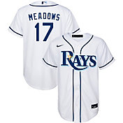 Nike Youth Replica Tampa Bay Rays Austin Meadows #17 Cool Base White Jersey