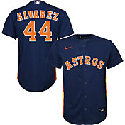 Nike Youth Replica Houston Astros Yordan Alvarez #44 Cool Base Navy Jersey