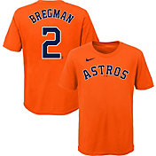Nike Youth 4-7 Houston Astros Alex Bregman #2 Orange T-Shirt