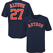 Nike Youth Houston Astros Jose Altuve #27 Navy T-Shirt