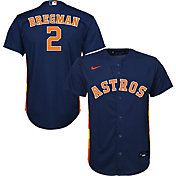 Nike Youth Replica Houston Astros Alex Bregman #2 Cool Base Navy Jersey