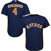 Nike Youth Replica Houston Astros George Springer #4 Cool Base Navy Jersey
