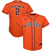 Nike Youth Replica Houston Astros Alex Bregman #2 Cool Base Orange Jersey
