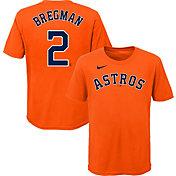 Nike Youth Houston Astros Alex Bregman #2 Orange T-Shirt