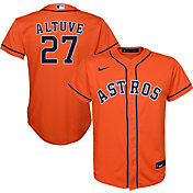 Nike Youth Replica Houston Astros Jose Altuve #27 Cool Base Orange Jersey