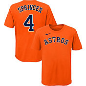 Nike Youth Houston Astros George Springer #4 Orange T-Shirt