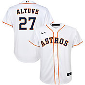 Nike Youth Replica Houston Astros Jose Altuve #27 Cool Base White Jersey