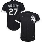 Nike Youth Replica Chicago White Sox Lucas Giolito #27 Cool Base Black Jersey