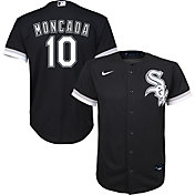 Nike Youth Replica Chicago White Sox Yoan Moncada #10 Cool Base Black Jersey