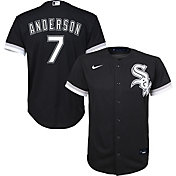 Nike Youth Replica Chicago White Sox Tim Anderson #7 Cool Base Black Jersey