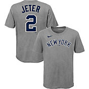 Nike Youth New York Yankees Derek Jeter #2 Gray T-Shirt