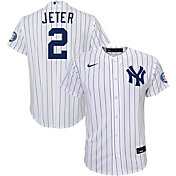 Nike Youth Replica New York Yankees Derek Jeter #2 2020 Hall of Fame Cool Base White Jersey