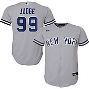 Nike Youth Replica New York Yankees Aaron Judge #99 Cool Base Grey Jersey