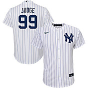 Nike Youth Replica New York Yankees Aaron Judge #99 Cool Base White Jersey