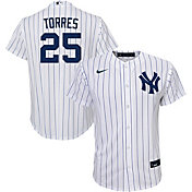 Nike Youth Replica New York Yankees Gleyber Torres #25 Cool Base White Jersey