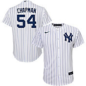Nike Youth Replica New York Yankees Aroldis Chapman #54 Cool Base White Jersey