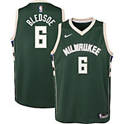Nike Youth Milwaukee Bucks Eric Bledsoe #6 Green Dri-FIT Icon Swingman Jersey