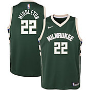 Nike Youth Milwaukee Bucks Khris Middleton #22 Green Dri-FIT Icon Swingman Jersey