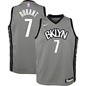 Nike Youth Brooklyn Nets Kevin Durant #7 Grey Dri-FIT Statement Swingman Jersey