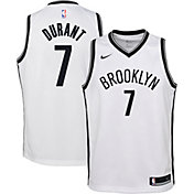 Nike Youth Brooklyn Nets Kevin Durant #7 White Dri-FIT Swingman Jersey