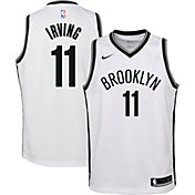 Nike Youth Brooklyn Nets Kyrie Irving #11 White Dri-FIT Swingman Jersey