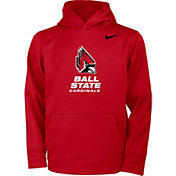 Nike Youth Ball State Cardinals Cardinal Therma Pullover Hoodie