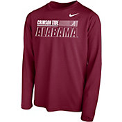Nike Youth Alabama Crimson Tide Crimson Legend Long Sleeve Performance T-Shirt