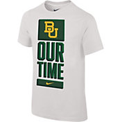 Nike Youth Baylor Bears 'Our Time' Bench White T-Shirt