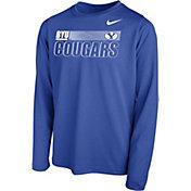 Nike Youth BYU Cougars Blue Legend Long Sleeve Performance T-Shirt