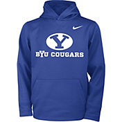 Nike Youth BYU Cougars Blue Therma Pullover Hoodie