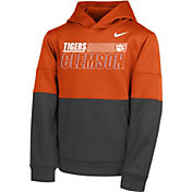 Nike Youth Clemson Tigers Orange Therma Color Block Pullover Hoodie