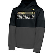 Nike Youth Colorado Buffaloes Therma Color Block Pullover Black Hoodie
