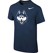 Nike Youth UConn Huskies Blue Core Cotton T-Shirt