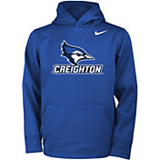 Nike Youth Creighton Bluejays Blue Therma Fleece Hoodie