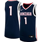 Nike Youth Gonzaga Bulldogs #1 Blue Replica Basketball Jersey