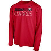 Nike Youth Georgia Bulldogs Red Legend Long Sleeve Performance T-Shirt