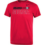 Nike Youth Georgia Bulldogs Red Dri-FIT Legend Performance T-Shirt