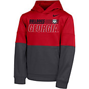 Nike Youth Georgia Bulldogs Red Therma Color Block Pullover Hoodie