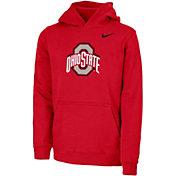 Nike Youth Ohio State Buckeyes Scarlet Club Fleece Pullover Hoodie