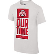 Nike Youth Ohio State Buckeyes 'Our Time' Bench White T-Shirt