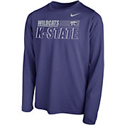 Nike Youth Kansas State Wildcats Purple Legend Long Sleeve Performance T-Shirt