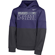 Nike Youth Kansas State Wildcats Purple Therma Color Block Pullover Hoodie