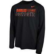 Nike Youth Oklahoma State Cowboys Legend Long Sleeve Performance Black T-Shirt